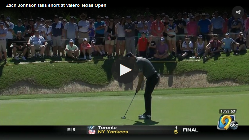 Zach Johnson comes up short in final round of Valero Texas Open